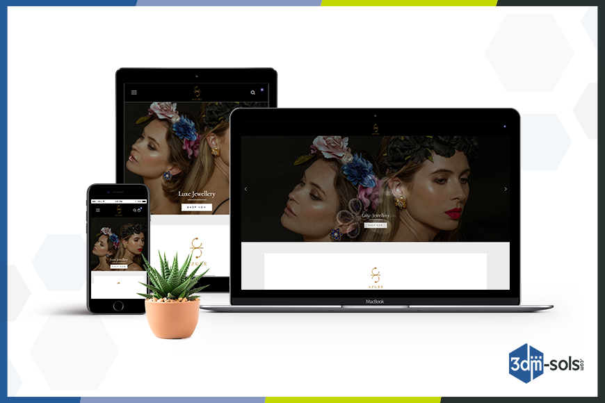 AZURE by SZK – Luxury Jewelry Website