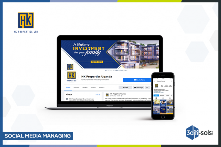 Social Media Marketing for HK Properties - Facebook and Instagram account of HK Properties