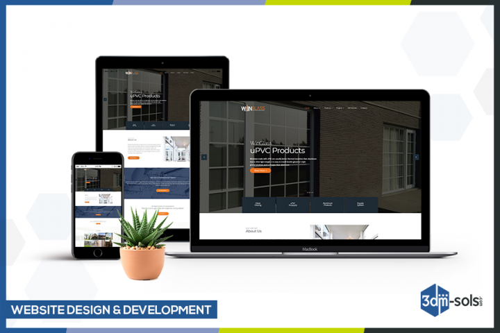 website design and development for WinGlass