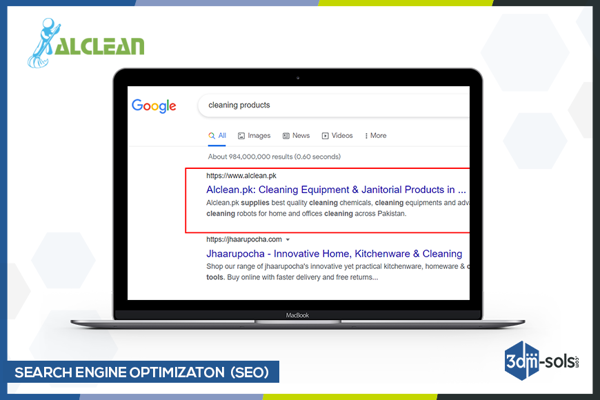 Search Engine Optimization for Alclean