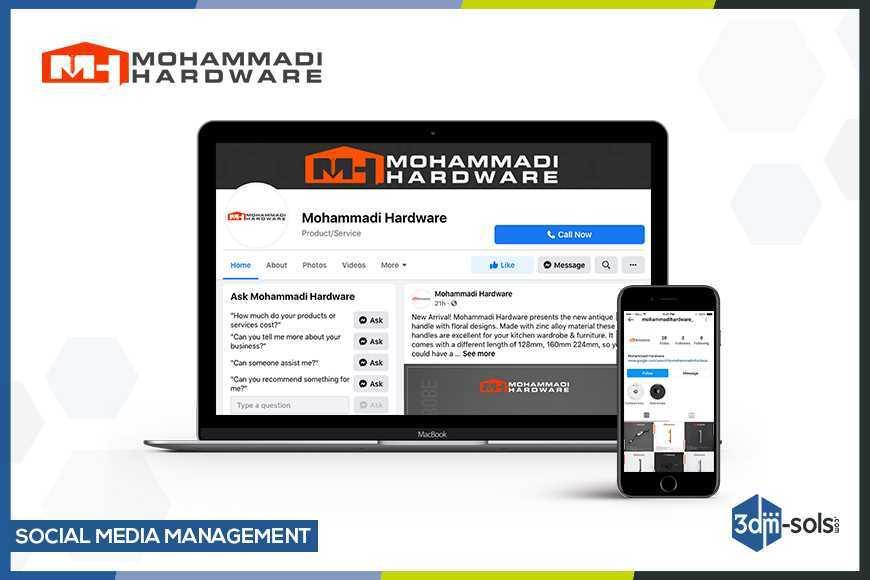 Social Media Management for Mohammadi Hardware