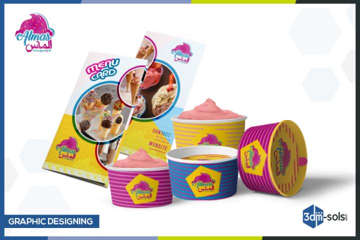 menu card and packaging design